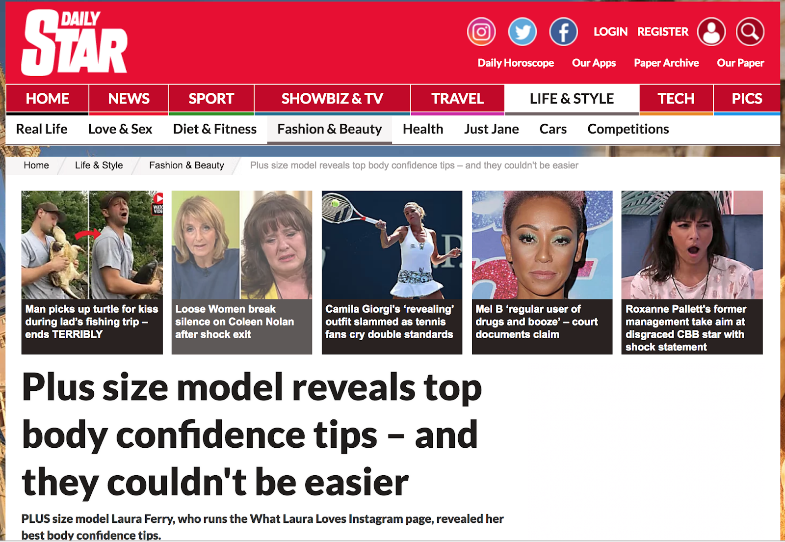 WhatLauraLoves Talking Body Confidence with the Daily Star