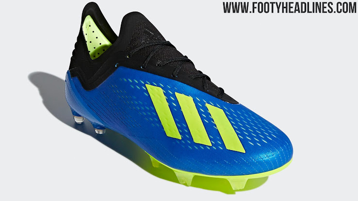 019d3c40822f84 The blue Adidas X 18.1 World Cup soccer cleats were released on 24 May 2018  for a price of 225 USD (185 GBP, 220 Euro).