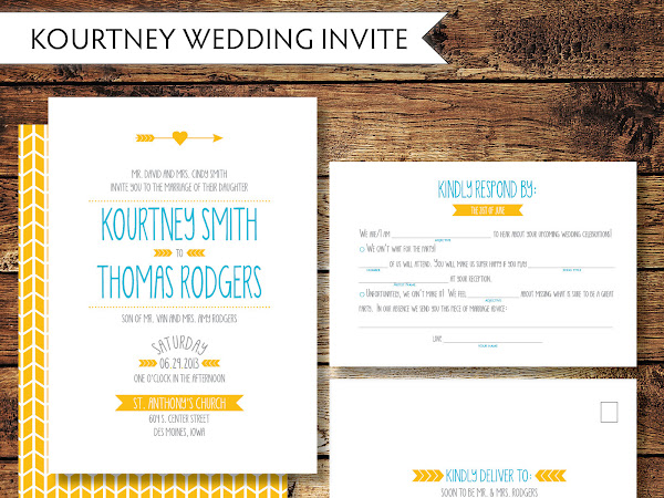Kourtney Wedding Invitation Suite