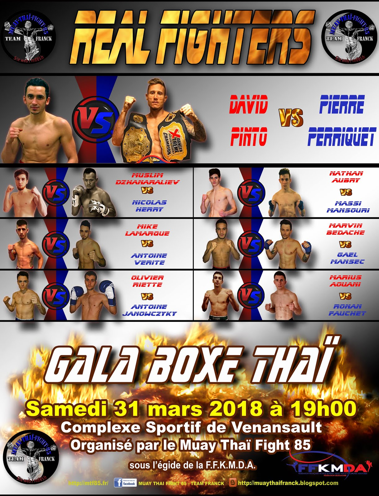 FIGHT CARD GALA MTF85 2018