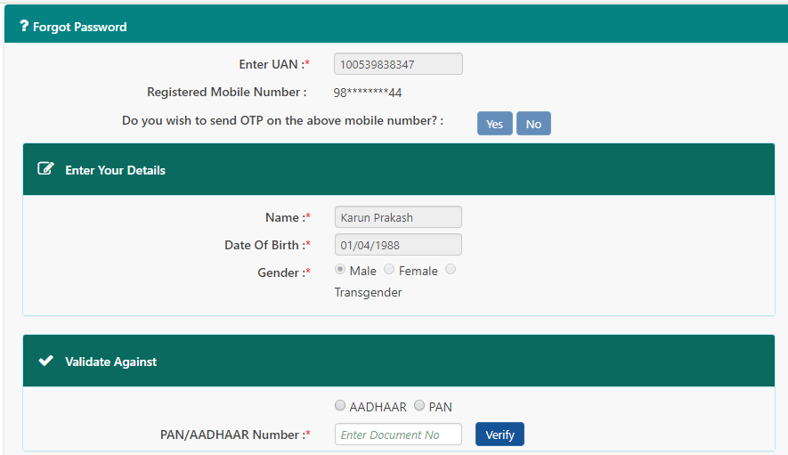 How to change your EPF password even without a registered