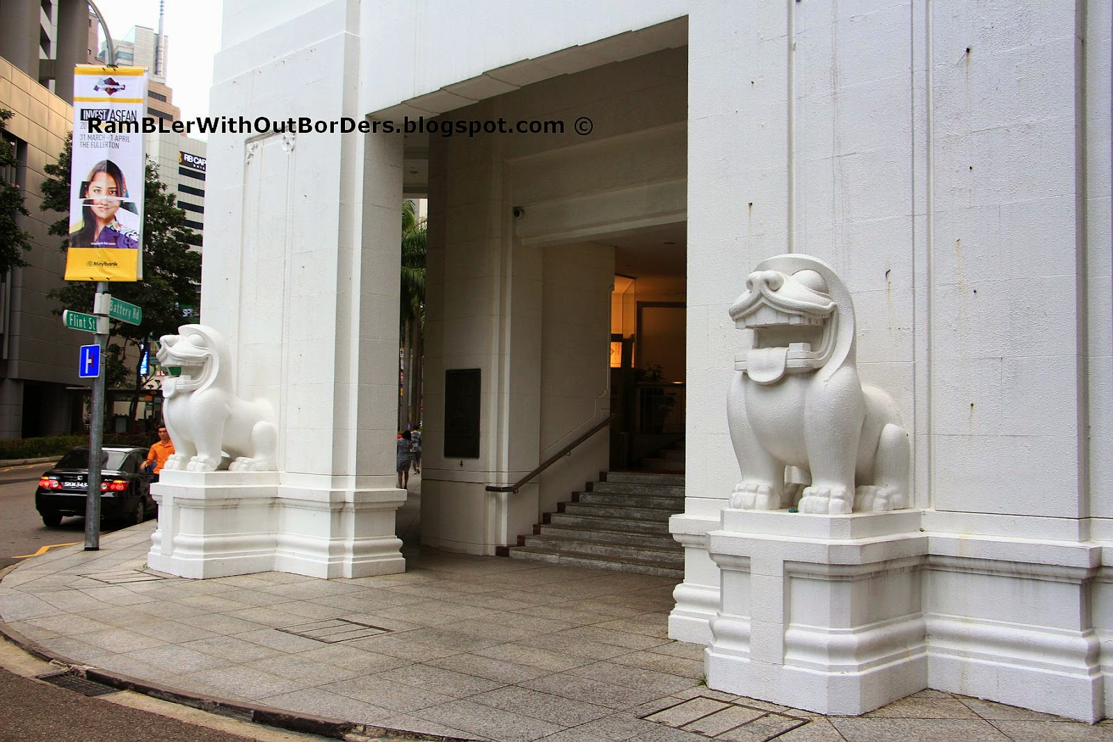 Bank of China Lions by Cavaliere Rudolfo Nolli, Raffles Place, Singapore