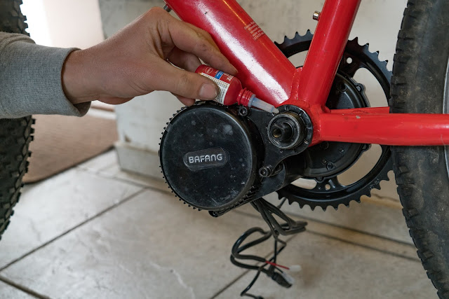 E-Bike-Umbau So baust du dir dein eigenes E-Bike mit Mittelmotor  DIY E-MTB Anleitung zum E-Bike Umbau mit Bafang BBS01 Mittelmotor E-Bike selber bauen aus altem Mountainbike 17