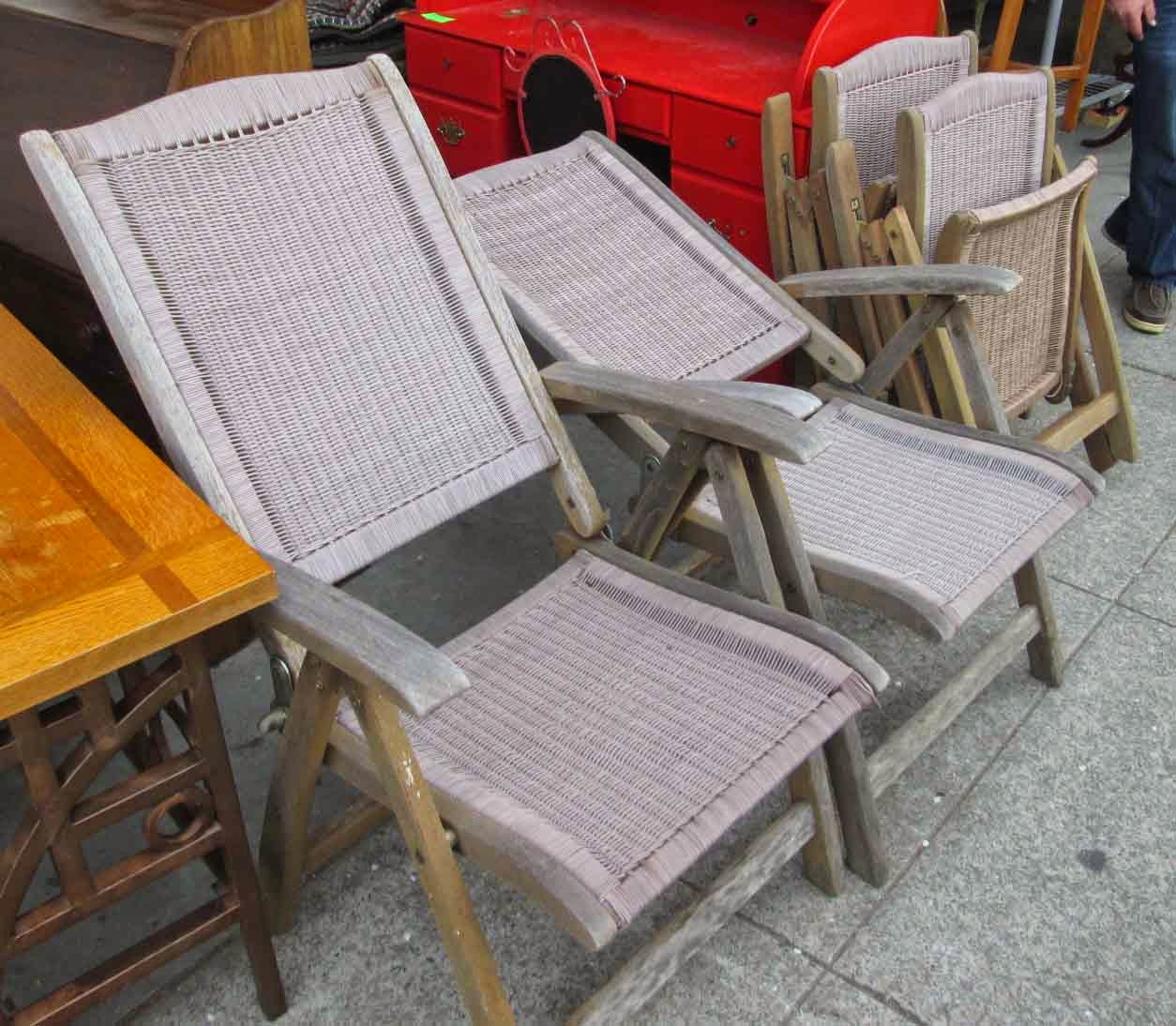 Plow And Hearth Furniture: UHURU FURNITURE & COLLECTIBLES: SOLD Set Of 4 Adjustable