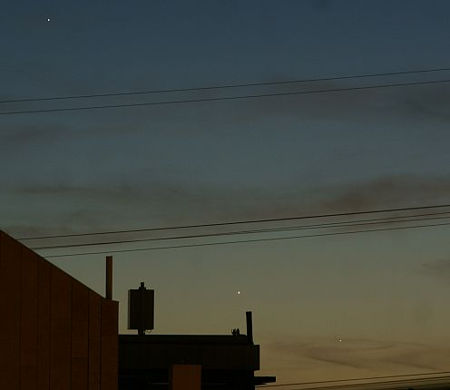 Jupiter Venus and Mercury 22-May-2013