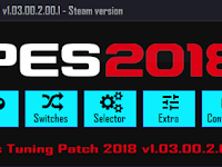 Patch PES 2018 Terbaru dari PES Tuning Patch V1.03.00.2.0.1. AIO