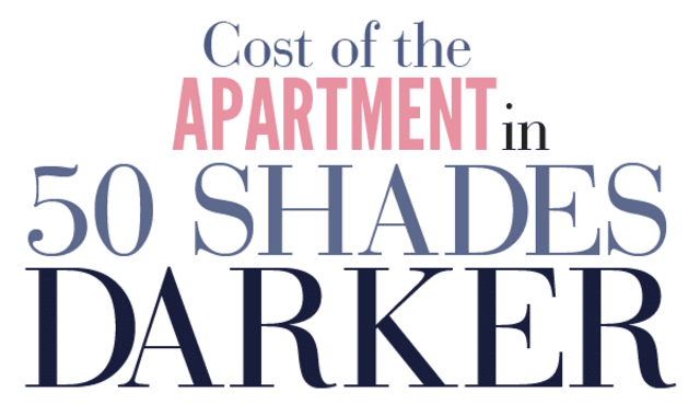 Cost of the Apartment in 50 Shades Darker