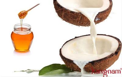 Trị nám da mặt với dầu dừa với mật ong