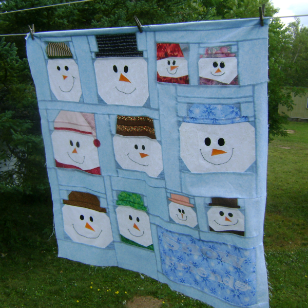 Frances's Snow Friends | DevotedQuilter.blogspot.com