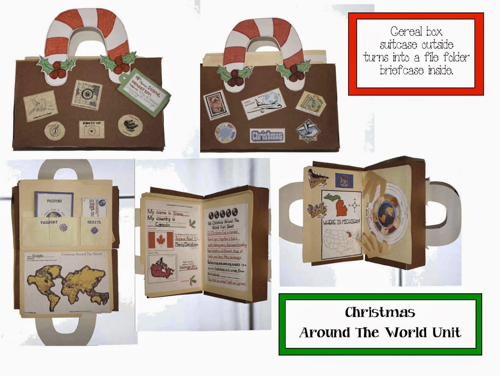 Classroom Freebies Christmas Around The World Packet