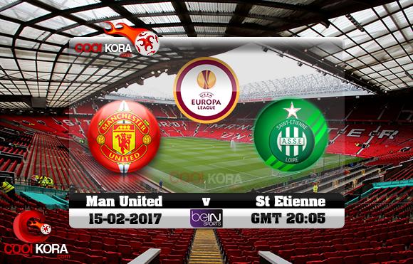 مشاهدة مباراة مانشستر يونايتد وسانت إيتيان اليوم 16-2-2017 في الدوري الأوروبي