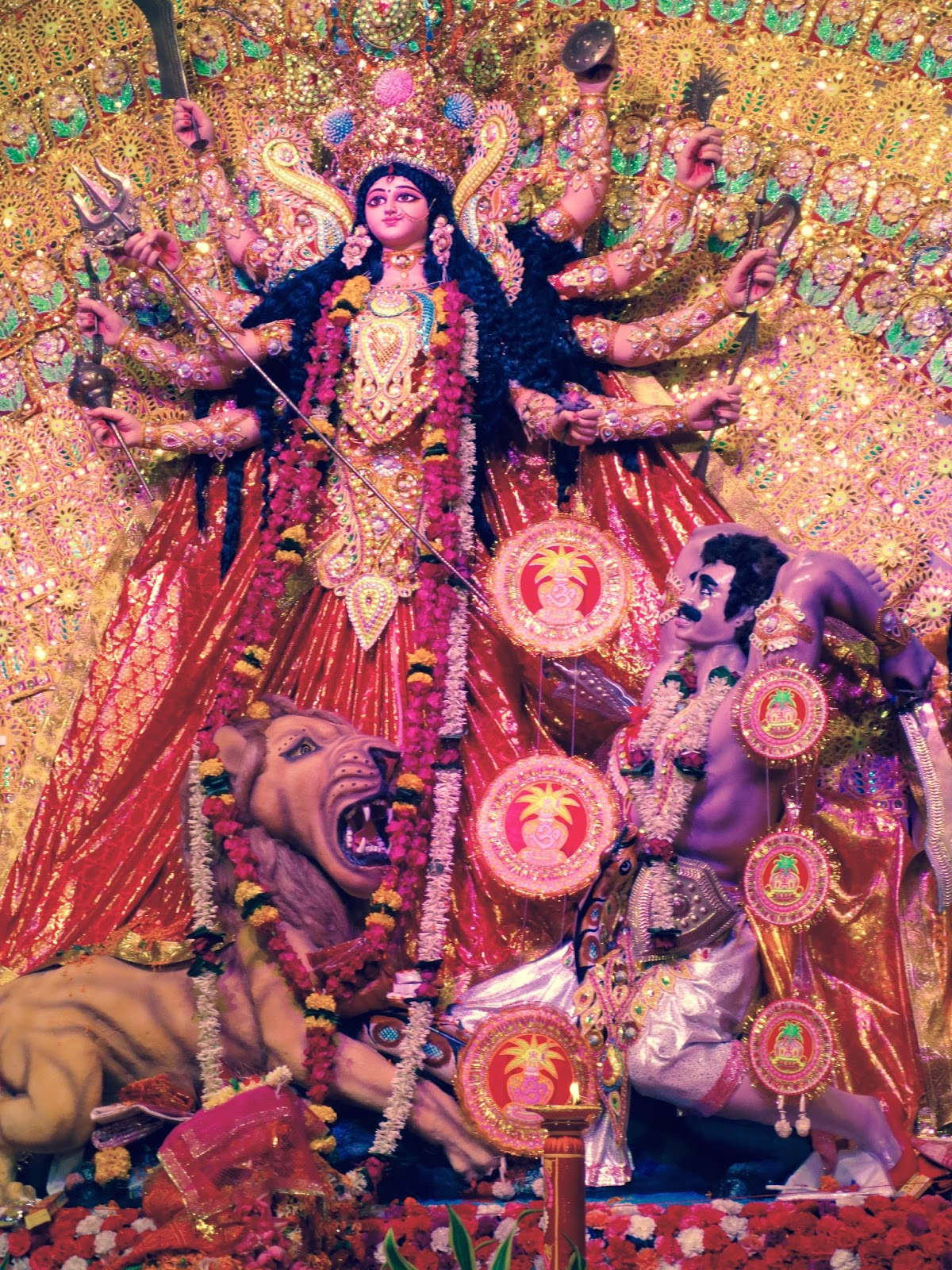 maa durga images in bengali style