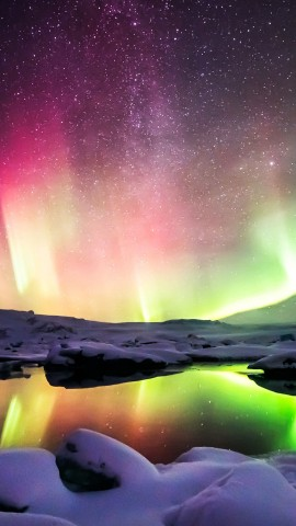 Beautiful Night Aurora Wallpaper