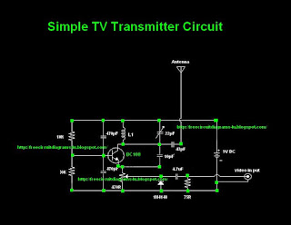 Simple TV Transmitter circuit diagram (VHF)