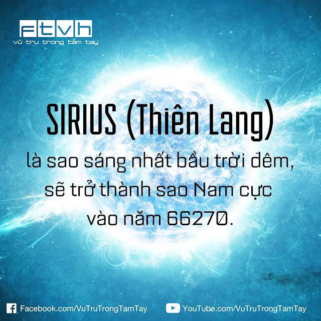 [Ftvh] Sao Sirius sẽ trở thành sao Nam cực vào năm 66270.