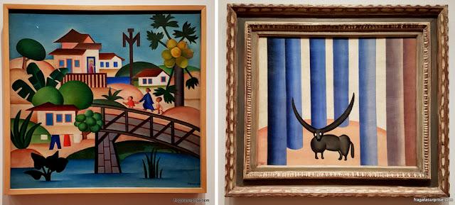 """Obras de Tarsila do Amaral expostas no MoMA de Nova York: """"Carnaval em Madureira"""" e """"O Boi na Floresta"""""""