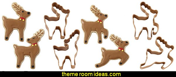 Reindeer Metal Cookie Cutter Set
