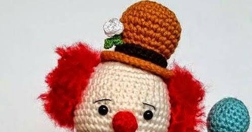 Crochet Clown Amigurumi Free Pattern | 261x497