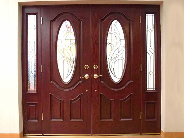 cửa gỗ căm xe- mẫu 5