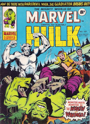 Mighty World of Marvel #197, Hulk vs Wendigo