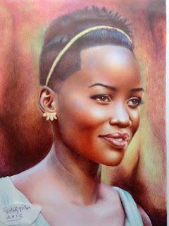 رسم فتاة افريقية