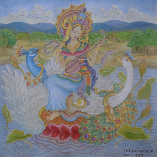 Saraswati Day In Bali, Saraswati Holy Day, Goddess Saraswati Day