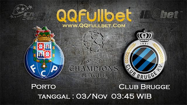 PREDIKSI BOLA PORTO VS CLUB BRUGGE 3 NOVEMBER 2016