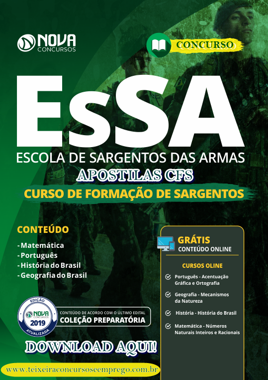 Apostila Exército ESA 2019 - Escola de Sargentos das Armas do Exército