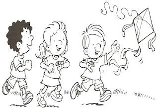 Brincadeiras crianças-empinando pipa