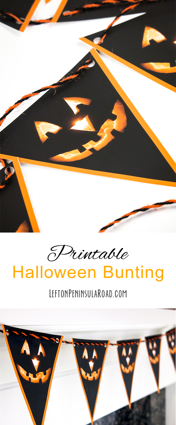 Darling printable bunting for Halloween decorating.