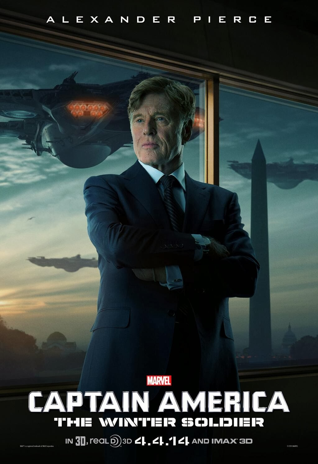 Captain America The Winter Soldier Teaser Character Movie Poster - Robert Redford as Alexander Pierce