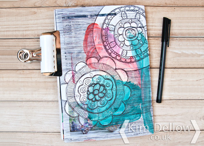 Art journaling with ballpoint pens by Kim Dellow