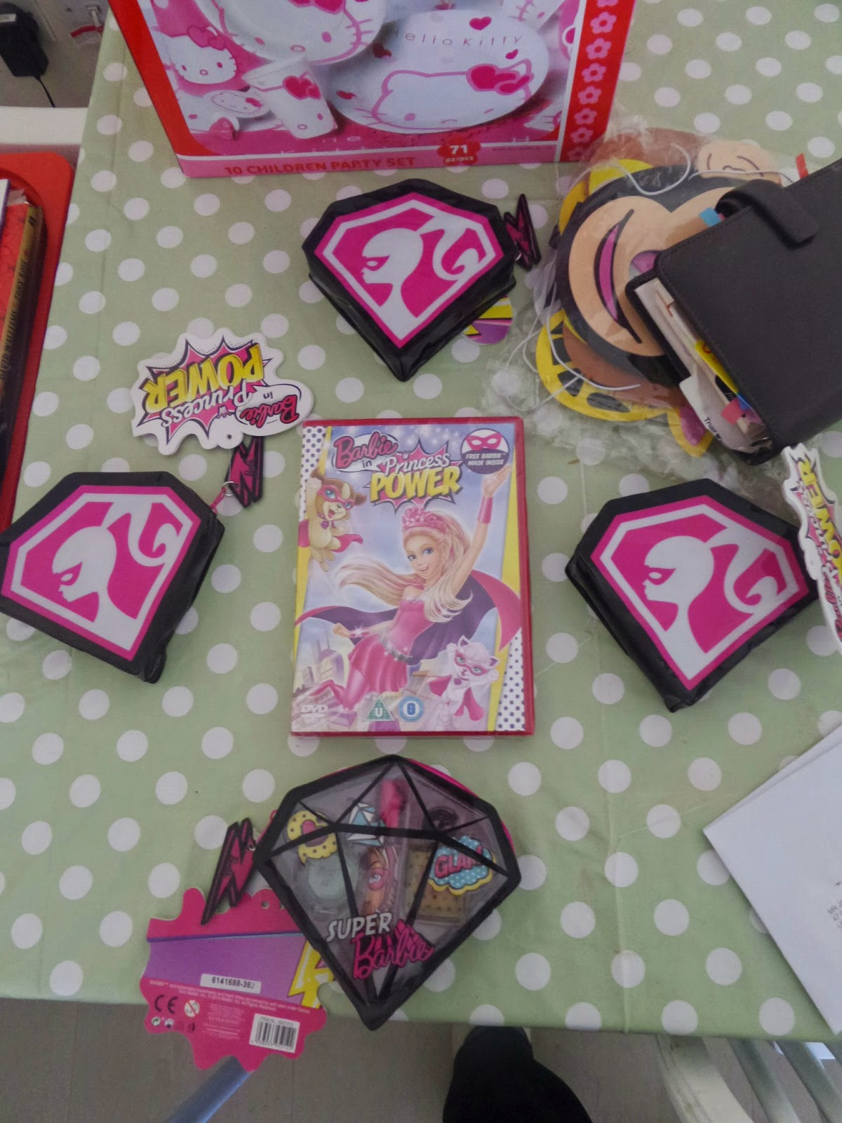 Barbie #BeSuper Party favours