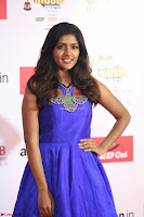 Eesha in Cute Blue Sleevelss Short Frock at Mirchi Music Awards South 2017 ~  Exclusive Celebrities Galleries 002.JPG