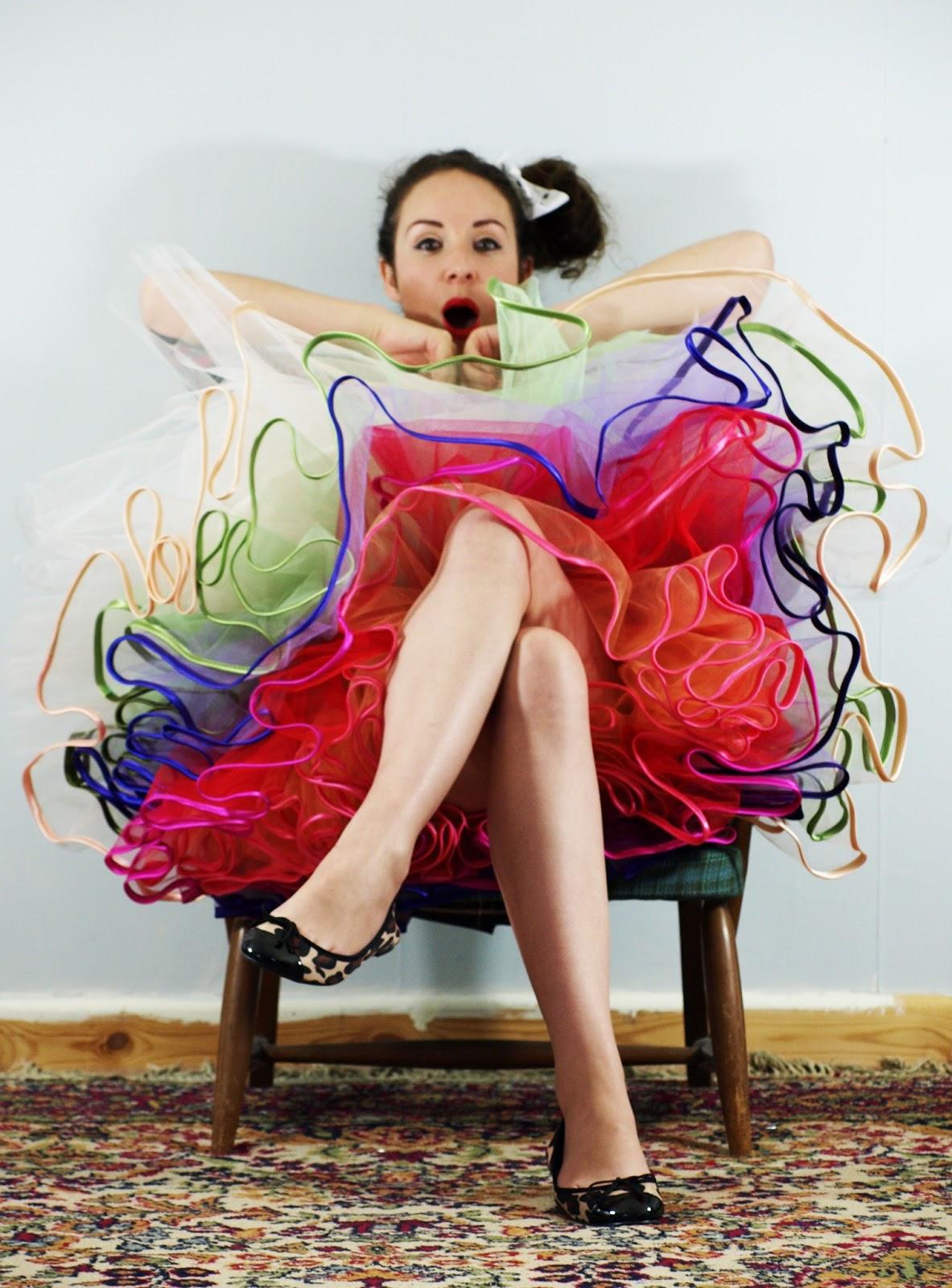 d72fdb8181 Crafty Alex: DIY - Rainbow Tulle Petticoat