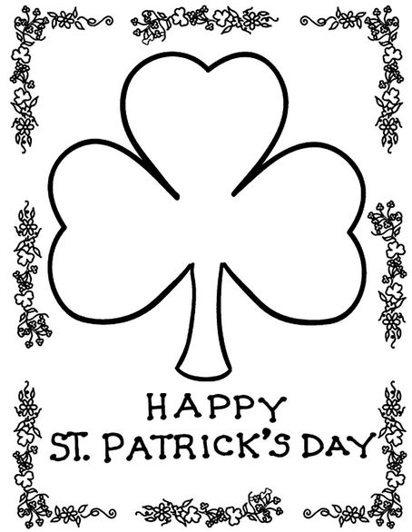 Happy St Patrick's Day 2018 Clip art, Crafts, Coloring