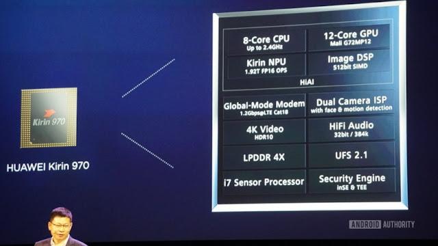 Chipset Kirin 970 bisa mencapai kecepatan download hingga 1,2 Gbps