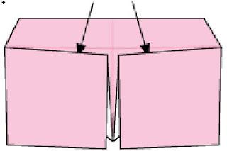 Bước 7: Dùng keo dán giấy dán tại vị trí 2 mũi tên