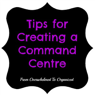 Command Centre:  Schoolwork File Bins & Series Wrap-up | http://fromoverwhelmedtoorganized.blogspot.com