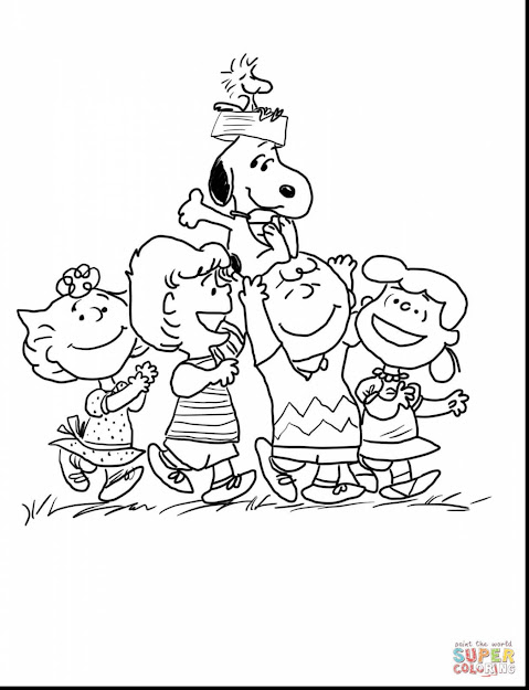 Surprising Charlie Brown Peanuts Gang Coloring Page With Charlie Brown Christmas  Coloring Pages And Charlie Brown