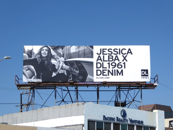 Jessica Alba X DL1961 Denim FW16 billboard