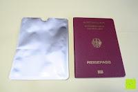 Hülle und Reisepass: eBoot RFID Schutzhülle für Reisepass und Kreditkarte, 12 Stück