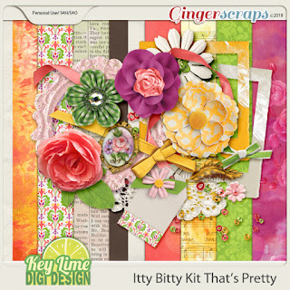 Ginger Scraps Sept 2018 Mini Kit Challenge hosted by Key Lime Digi Design and Freebie