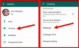 Cara ubah wallpaper di chattingan whatsapp