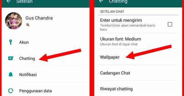 Darpy Info Cara Ganti Wallpaper Chat Whatsapp Dari Galeri