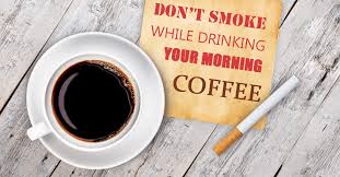 Cigarette smoking increases the risk of the morning of lung cancer