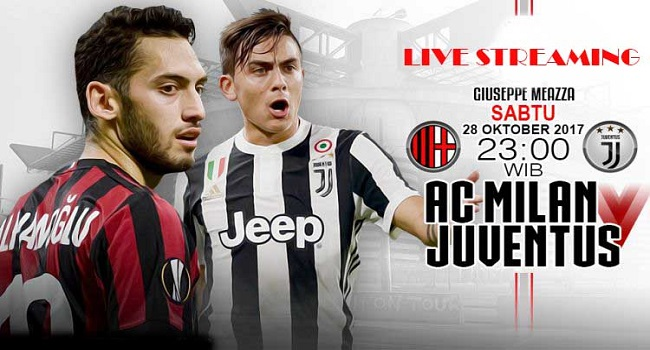 live streaming milan vs juventus 28 oktober 2017