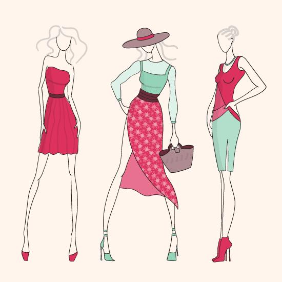 Dibujos sobre Modelos de Moda