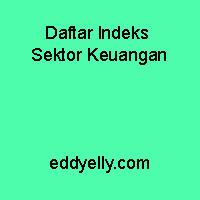 Daftar Indeks Sektor Keuangan