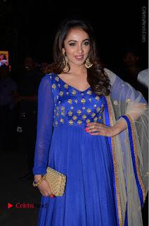 Telugu Actress Tejaswi Madivada Pos in Blue Long Dress at Nanna Nenu Na Boyfriends Audio Launch  0031.JPG